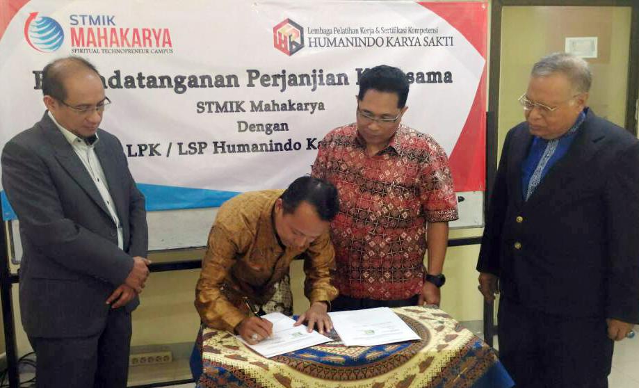 Penandatanganan MoU STMIK Mahakarya dengan LPK/LSP  Humanindo Karya Sakti (HKS)